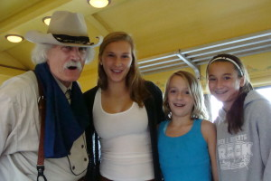 Three gradaughters and one cowboy