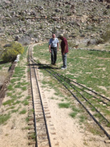 Bill and Joe talking over the finer points of tracklaying