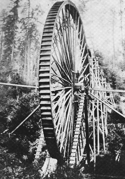 24 foot high water wheel