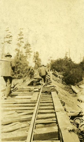 The track after the wreck