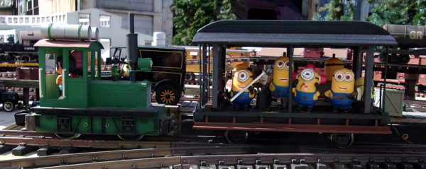 minion Hi-jack a MOW on the Mendocino Coast Model Railroad