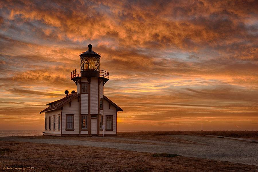 Point Cabrillo at sunset #1