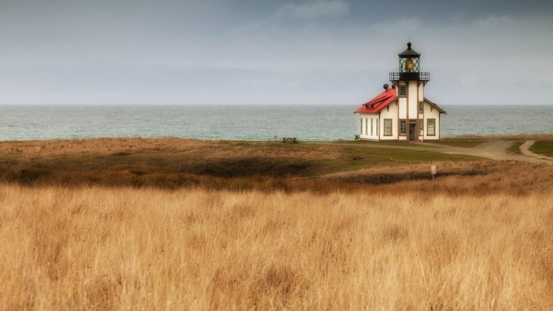 Point Cabrillo surrounded by the summer grass