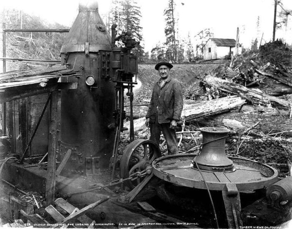 Steam Donkey with a capstan #1