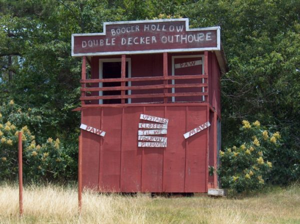 Another double decker outhouse