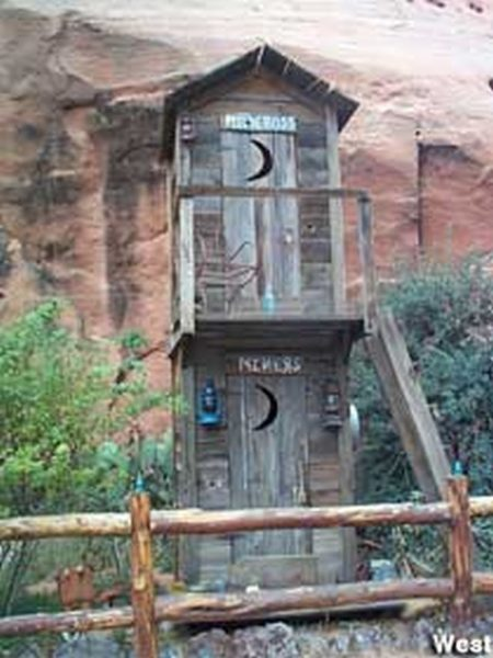 2-story outhouse, Hole N' the Rock, Moab, UT.