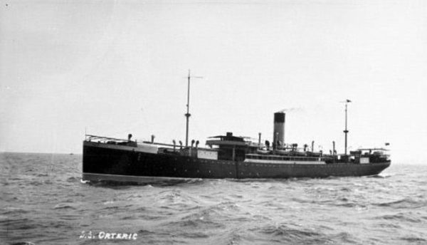 S. S. Orteric at sea