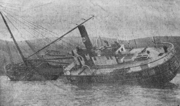 The wreck of the third Caspar