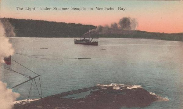 Steamer Sequoia in Mendocino Bay