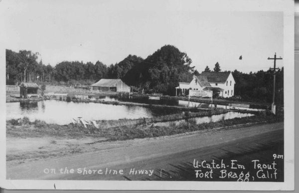 The Trout Farm in Fort Bragg when it was owned by Gordon McNutt