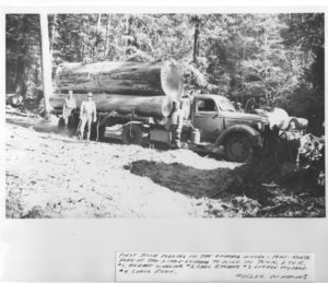 Logging truck in Gualala