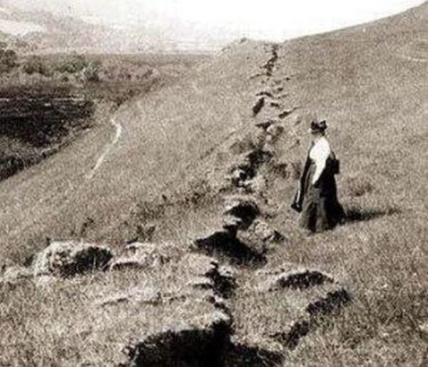 1906 earthquake rupture at ground level