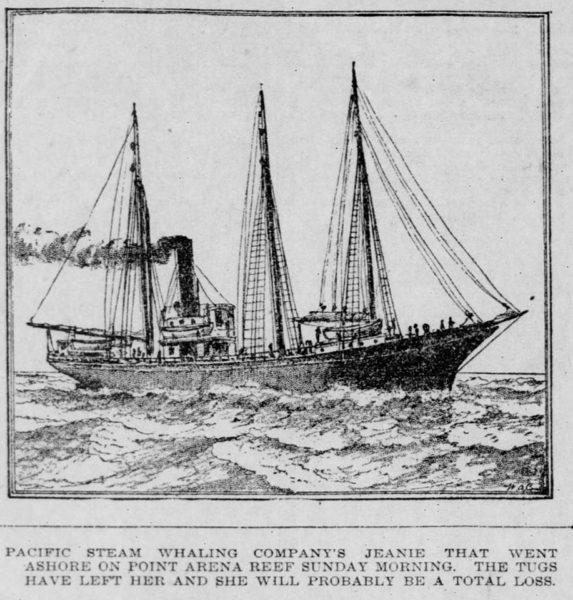Drawing of the S. S. Jeanie