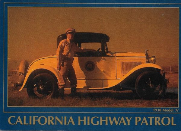 CHP Officer with his 1930 Model A