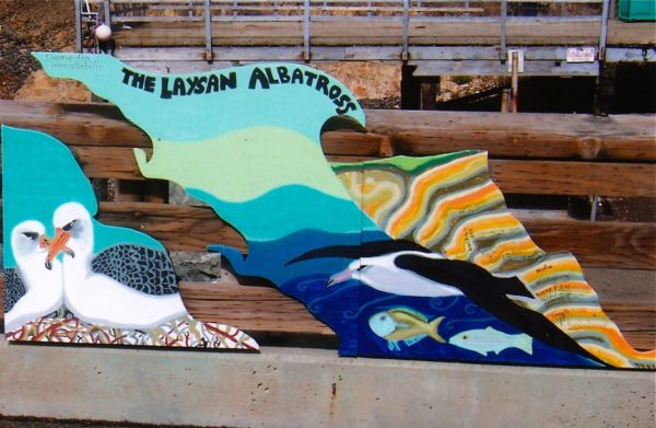 Albatross Sign at Point Arena
