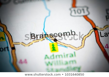 Map showing whereabouts of Branscomb California