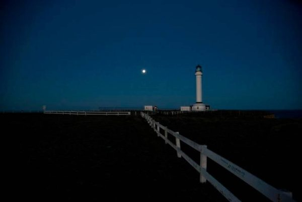 Point Arena Lighthouse in the moonlight