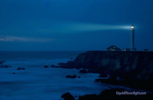 Point Arena Lighthouse at night