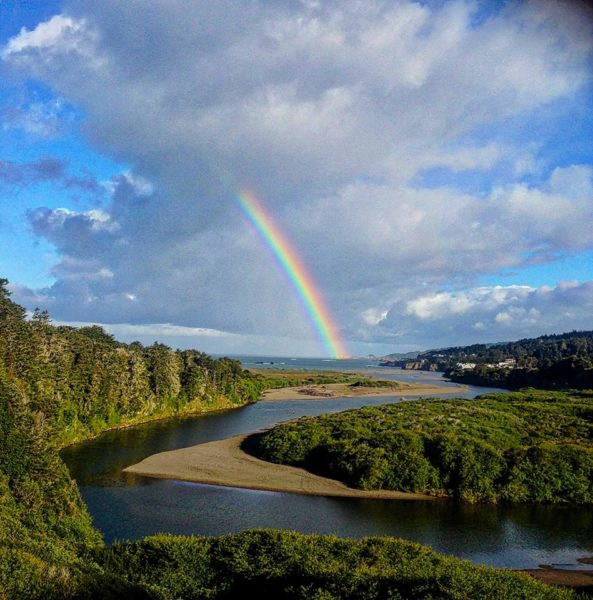 Rainbow at Big River, Mendocino