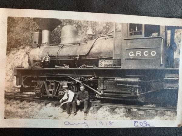 One of Greenwood Railroad Co #2, #3 or #5 Shay