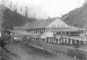Mill beside Pudding Creek in 1897