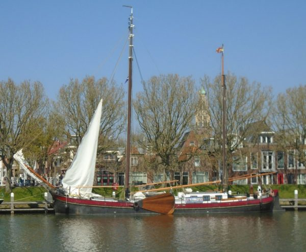 An old fashioned Dutch sailing vessel