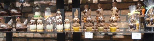 Chocolate chickens and bunnies galore