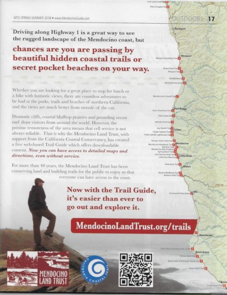 Mendocino Land Trust Advertisement