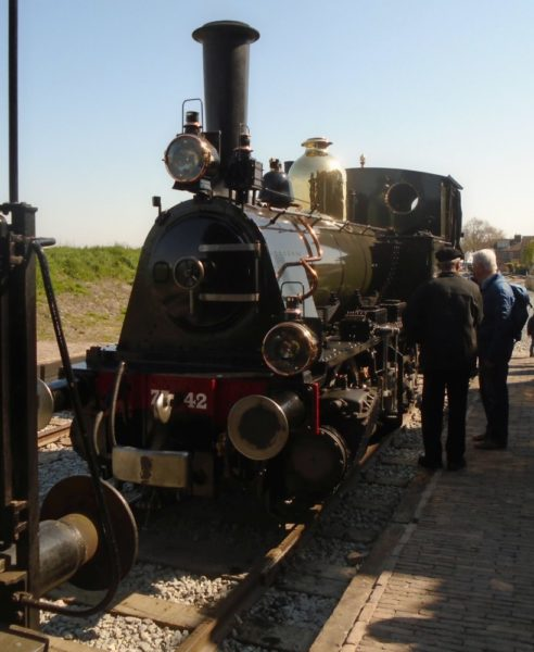Our loco being inspected by interested passengers