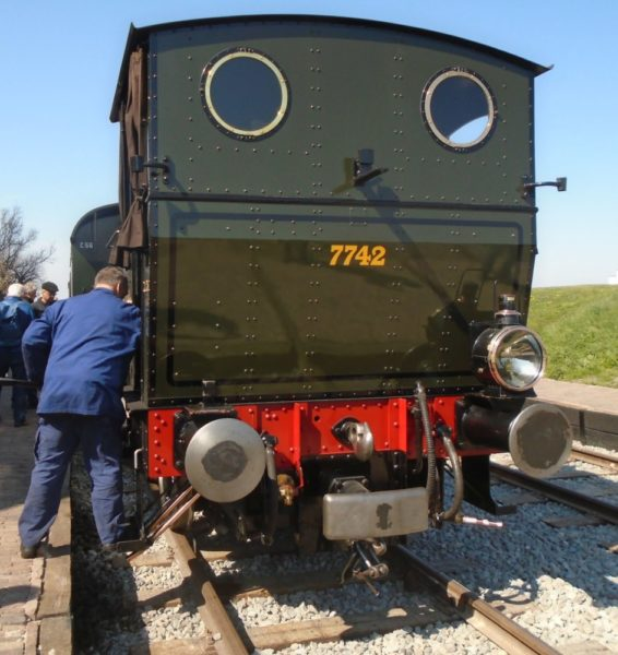 The coal bunker is stored in the engineers cab