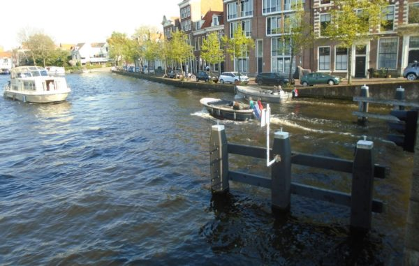 The river Spaarne runs through Haarlem - watch the big boat to the left