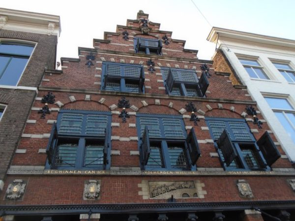 Typical old fascia -this one dates back to the 1700s - note the oxen pulling the cart