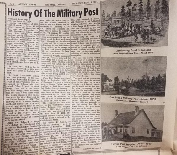 Fort Bragg history Part II