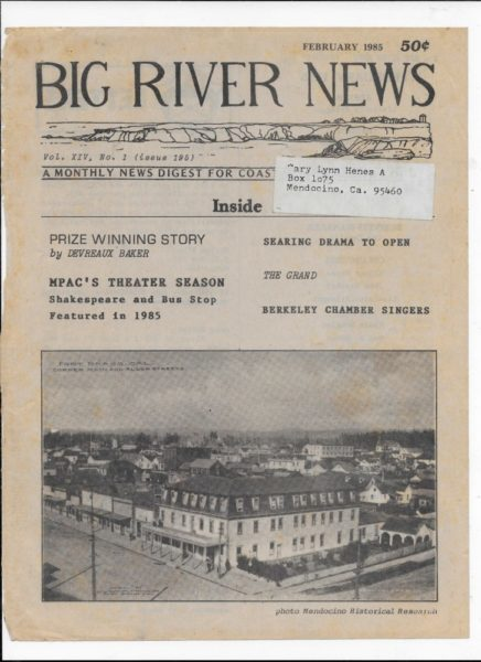 Big River News - front page February 1985
