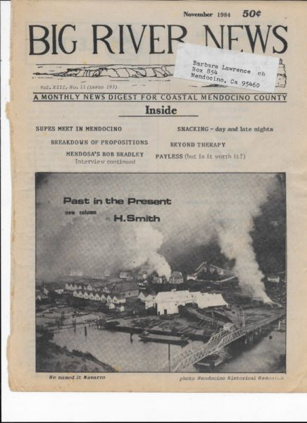 Big River News - November 1984 front page
