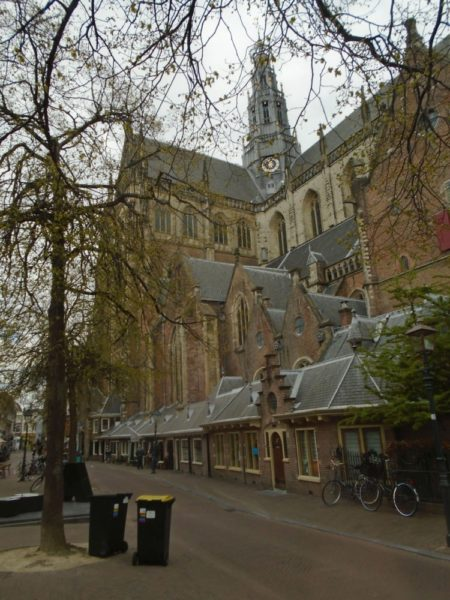 The main church in Haarlem - the weekly market takes place in its precincts
