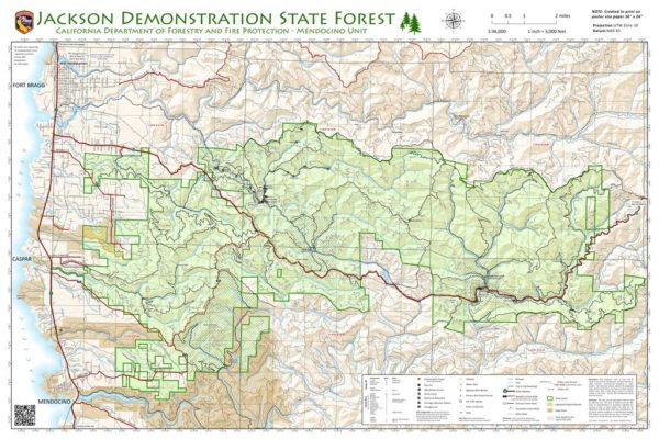 Map of Jackson Demonstration State Forest