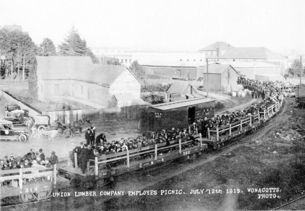 July 12th 1919 Union Lumber Picnic Train