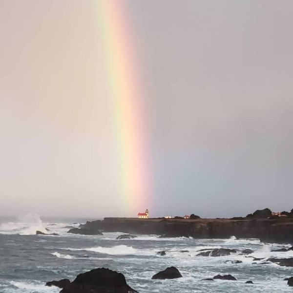 Point Cabrillo at the end of a rainbow