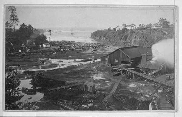 Probably one of the first pictures of the Caspar Mill