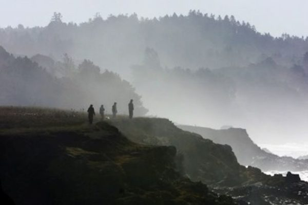 Watching fog from a cliff top