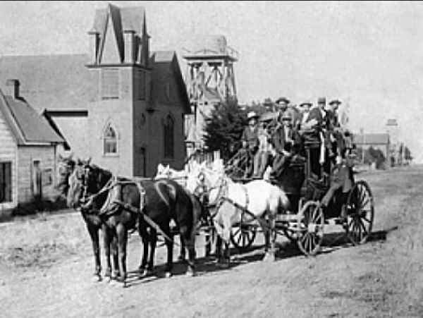 Stagecoach in Mendocino